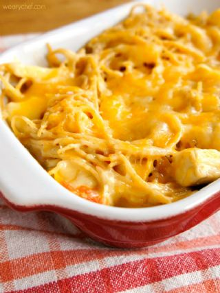 Easy Cheesy Chicken Spaghetti - Great Weeknight Dinner! image