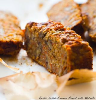 Carrot, Banana and Walnut Cake image