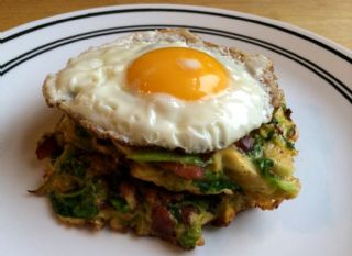 Brussels Sprout Hash with Egg image