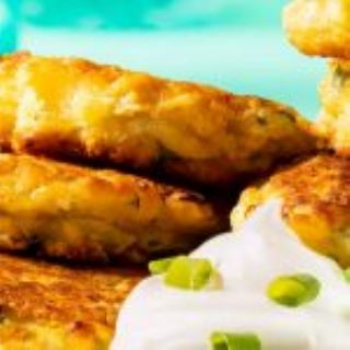 CORN & ONION FRITTERS image