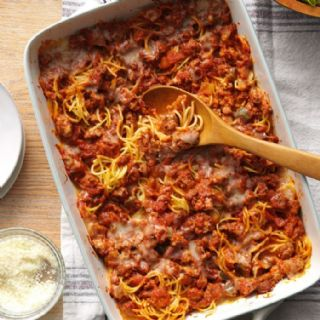Rich Baked Spaghetti image