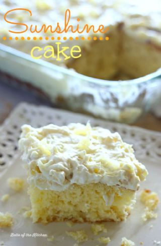 Pineapple Sunshine Cake image