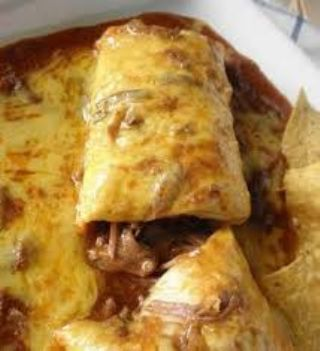 Smothered Beef Burritos image